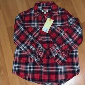 Boys Cherokee Flannel Shirt NWT